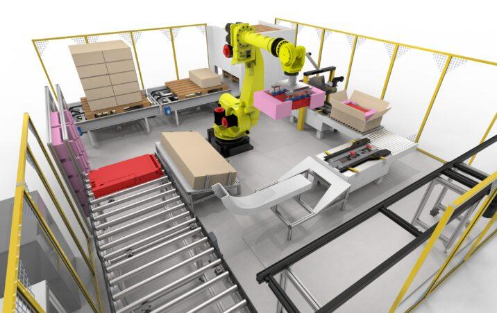 Tööstusrobot toodet pakendamas
