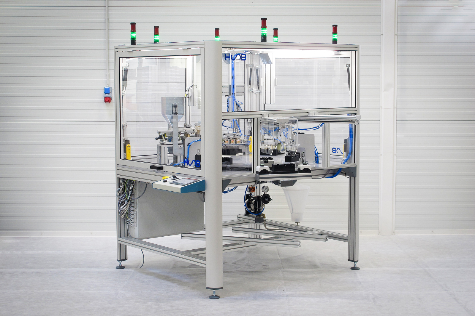 Turntable production cell for the food industry - HOOB